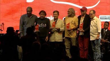 """Festa da Música do Maranhão e Prêmio """"Papete"""" reúne músicos em São Luís - Orquestra Guajajaras, uma """"Big Band"""" formada por jovens músicos maranhenses, comandou a trilha sonora da noite."""