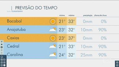 Veja as variações das temperaturas no Maranhão - Confira a previsão do tempo nesta segunda-feira (2) em São Luís e também no interior do estado.