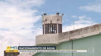 Governo de Minas Gerais adota racionamento de água em presídios a partir deste domingo - Segundo secretaria, detento gasta em média 88% mais água que cidadão em liberdade. Água nos presídios poderá ser utilizada por seis horas diárias.