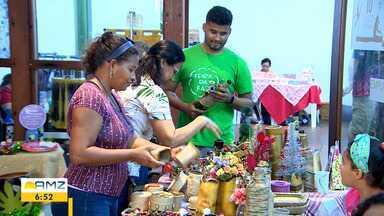 FAS promove feira sustentável em Manaus - Empreendedores aproveitaram materiais que iriam para o lixo.