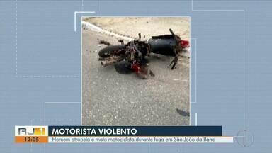 Homem atropela e mata motociclista durante fuga em São João da Barra - Caso aconteceu na madrugada deste domingo (1º).