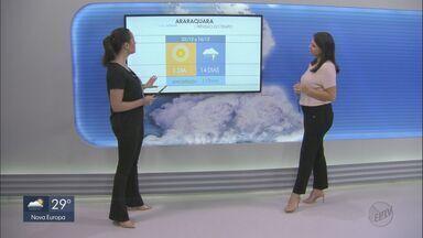 Veja como fica o tempo nesta segunda-feira na região - Há previsão de chuva.