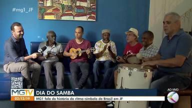 Dia Nacional do Samba: MG1 fala da história do ritmo em Juiz de Fora - No estúdio, Roger Resende, Carlos Fernando Cunha, Mamão, Coração e membros do Bacharéis do Samba falam sobre as diferentes gerações do ritmo na cidade.