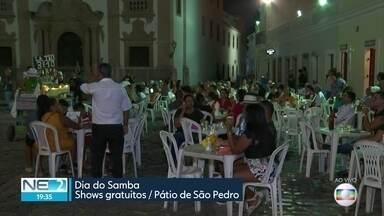 Dia do Samba é festejado no Recife - Vereadores fizeram homenagem e festa foi realizada no Pátio de São Pedro