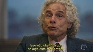 "Steven Pinker fala sobre otimismo - Steven Pinkers fala sobre sua teoria no livro ""O Novo Iluminismo"""