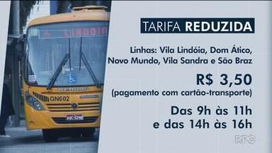 Linhas de ônibus começam a circular com tarifa reduzida em horários de menor movimento - O valor da passagem será de R$3,50.