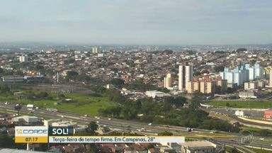Confira a previsão do tempo para a região de Campinas nesta segunda-feira - Veja a temperatura prevista para as cidades da região e se programe.