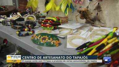 Artesãos santarenos se preparam para vender artigos natalinos - É grande a procura por itens artesanais nesta época do ano; veja na reportagem.
