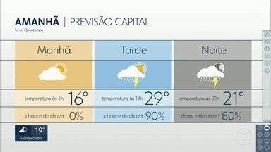 Quarta-feira deve amanhecer com frio - À tarde, o clima esquenta e pode chover