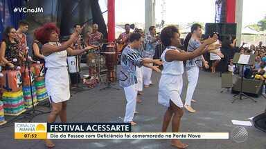 Festival Acessarte marca a comemoração do Dia Internacional da pessoa com Deficiência - O evento aconteceu na Arena Fonte Nova, com show do cantor Saulo Fernandes e apresentações de artistas especiais, na noite de terça-feira (3).