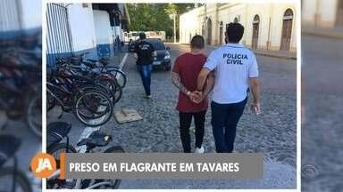 Homem é preso em flagrante na cidade de Tavares - Ele foi encaminhado para a penitenciária de Rio Grande.