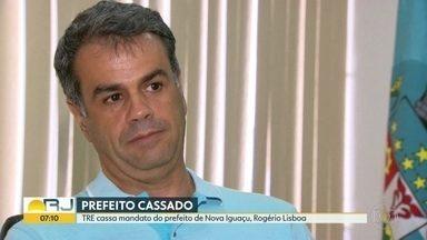 TRE cassa mandato do prefeito de Nova Iguaçu, Rogério Lisboa - O Tribunal Regional Eleitoral cassou os mandatos do prefeito e do vice por abuso de poder econômico e caixa 2. Rogério Lisboa pode recorrer.