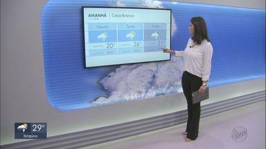 Veja como fica o tempo nesta quinta-feira na região - Há previsão de chuva e chegada de frente fria.