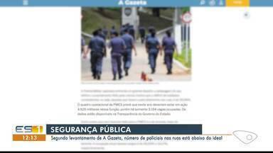 Secretário de Segurança Pública do ES fala de contratação de PMs no Sul do estado - Haverá concurso público.
