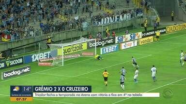 Diego Guichard faz a análises da vitória do Grêmio contra o Cruzeiro - Tricolor se despediu da Arena em 2019 com 2 a 0 e categoria de base se destacando.