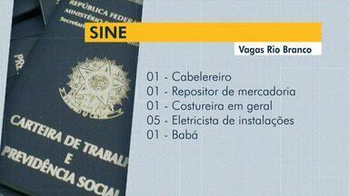 Sine oferece 20 vagas de emprego para Rio Branco nesta sexta-feira (6) - Sine oferece 20 vagas de emprego para Rio Branco nesta sexta-feira (6)