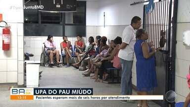 Pacientes reclamam da demora para receber atendimento na UPA do bairro do Pau Miúdo - Situação mais grave aconteceu na noite de quinta-feira (5). Confira.
