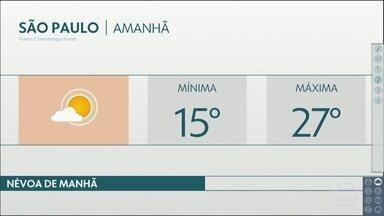 O tempo volta a esquentar no fim de semana - Na capital vai fazer mais calor do que na praia. A temperatura máxima chega aos 27 graus