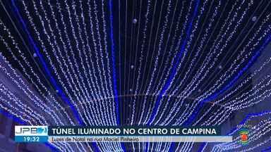 Túnel iluminado será inaugurado no centro de Campina Grande - As luzes ficam na Rua Maciel Pinheiro