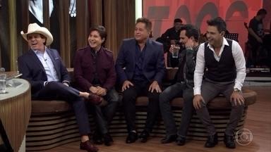 Zezé di Camargo & Luciano, Chitãozinho & Xororó e Leonardo falam sobre envelhecer - Bial recebe os cantores para comemorar o retorno do projeto 'Amigos'