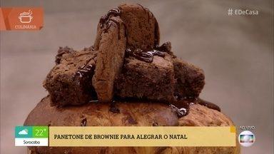 Confira a receita de Panetone de Brownie - Para alegrar o Natal, veja o passo a passo dessa delícia