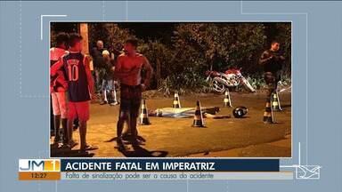 Homem morre em acidente de trânsito em Imperatriz - A moto que ele estava bateu em um ônibus.