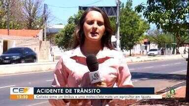 Acidente de trânsito com morte em Iguatu; invasão a residência em Crateús - Saiba mais em g1.com.br/ce