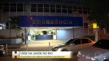 Funcionários de hospital no Rio suspendem serviço de emergência - Funcionários do hospital Albert Schweitzer dizem que estão sem salários há dois meses e também não receberam nenhuma parcela do décimo terceiro.