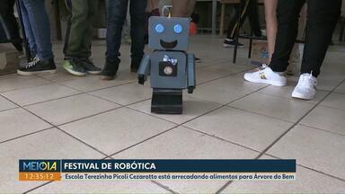 Festival de robótica será ponto de arrecadação de alimentos da campanha de Natal da RPC - Alunos da Escola Terezinha Picoli Cezarotto vão expor trabalhos desenvolvidos durante as aulas.