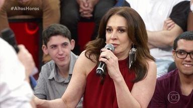 Claudia Raia comenta sobre sua personalidade - Serginho mostra trechos da novela 'Amor de Mãe'