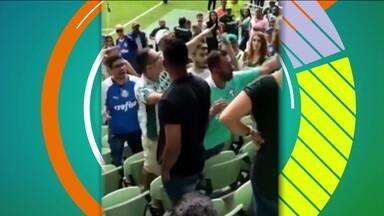 Apesar da festa que é o futebol, casos de violência nos estádios ainda são constantes - Apesar da festa que é o futebol, casos de violência nos estádios ainda são constantes
