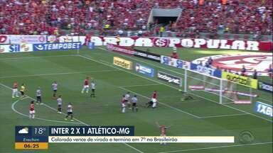 Confira os gols da vitória do Inter sobre o Atlético-MG no Brasileirão - Time colorado não vencia de virada desde 2018.