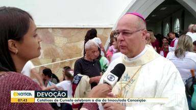Dia da Imaculada Conceição é celebrado em Curvelo - A Paróquia de Curvelo ganhou uma imagem de Nossa Senhora da Imaculada Conceição, que foi colocada na praça da cidade.