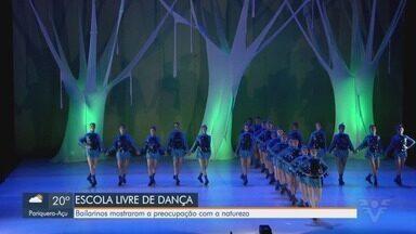 Bailarinos da Escola Livre de Dança de Santos estrelam espetáculo - Bailarinos mostraram a preocupação com a natureza em três dias de apresentações.