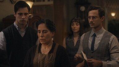 Lola fica apreensiva com a dívida que Júlio deixou - Alguns desconfiam que a dívida pode ser falsa