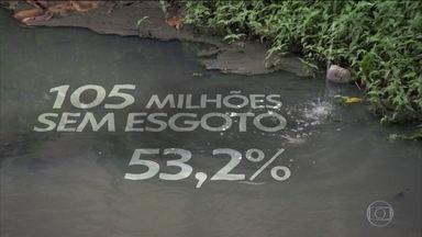 Menos da metade da população brasileira tem acesso à rede de esgoto - O levantamento foi divulgado pelo Ministério do Desenvolvimento Regional