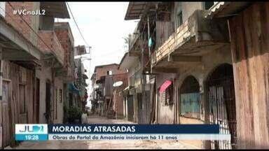 Moradores do projeto Portal da Amazônia, em Belém, cobram apartamento prometidos - Há 11 anos, 245 famílias foram retiradas da área onde foi construída a orla da cidade.