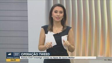 Polícia Civil investiga crimes na Apae de Lauro Müller - Polícia Civil investiga crimes na Apae de Lauro Müller