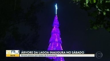 Confirmada inauguração da Árvore de Natal da Lagoa para este sábado (14) - A inauguração da Árvore de Natal da Lagoa está marcada para este sábado (14).
