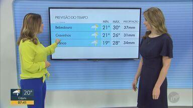 Confira a previsão do tempo para as regiões central e de Ribeirão Preto nesta quarta-feira - Tempo encoberto predomina nas cidades. São Carlos (SP) registra máxima de 25º C, com chances de chuva.
