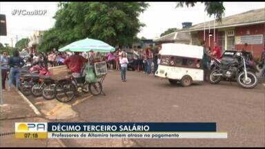 Professores temem atraso do 13º salário em Altamira - Professores temem atraso do 13º salário em Altamira