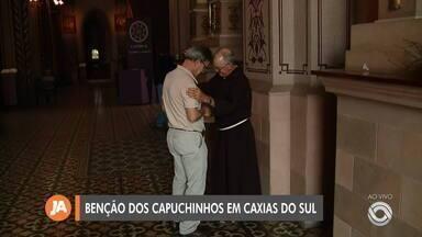 Benção dos Capuchinhos acontece em dois locais nesta quarta em Caxias do Sul - Assista ao vídeo.