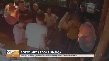 Vídeo mostra momento em que jogador francês dá um tapa nas nádegas de mulher - O ato de importunação sexual foi dentro de uma boate de BH na noite de domingo.