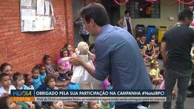 Campanha de Natal da RPC fez a alegria de crianças atendidas por instituições de Londrina - Foram mais de 900 brinquedos entregues nesta quarta-feira (11).