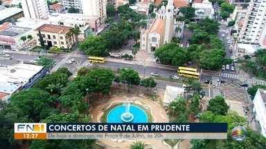 Praça Nove de Julho recebe concertos natalinos em Presidente Prudente - Programação começa nesta quarta-feira (11).