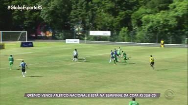 Grêmio está classificado e Inter eliminado da Copa RS Sub-20 - Assista ao vídeo.