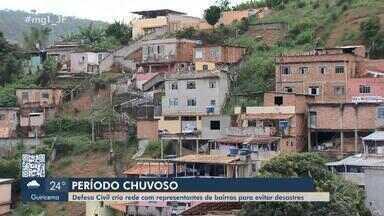 Defesa Civil cria rede com representantes de bairros para evitar desastres em Juiz de Fora - Objetivo é transmitir, de forma rápida e segura, informações e alertas da pasta.