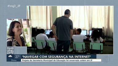 Projeto de Juiz de Fora ensina a navegar com segurança na internet - Ação é uma parceria da Secretaria Municipal de Educação com o Ministério Público de Minas Gerais.