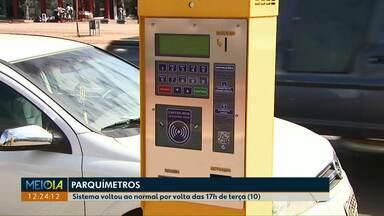 Parquímetros voltam a funcionar após pane em Cascavel - Segundo a prefeitura, empresa responsável pelo serviço informou que rede de internet apresentava problemas em todo país.