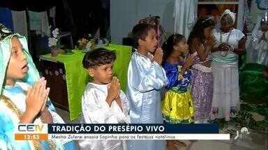 Mestra Zulene ensaia lapinha para os festejos natalinos - Saiba mais no g1.com.br/ce
